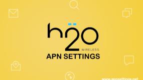 h2o apn settings